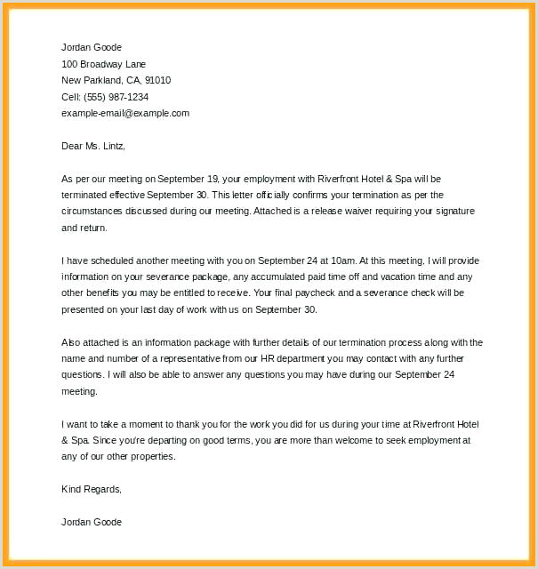 voluntary termination letter template – askwhatif