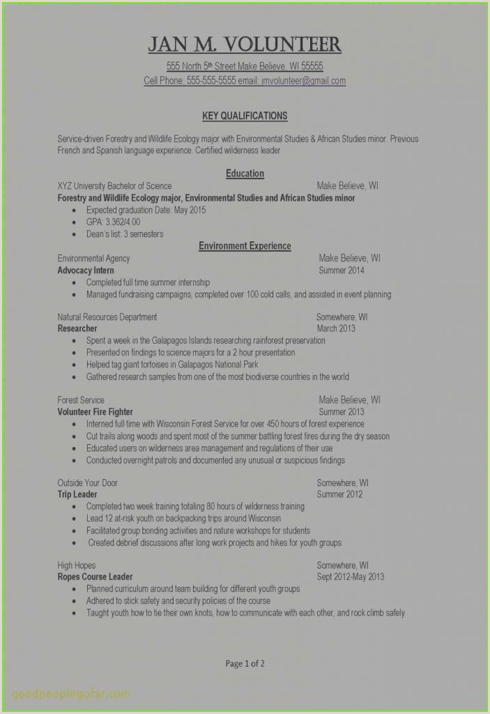 Volunteer Resume Awesome Resume Sample Volunteer New Best