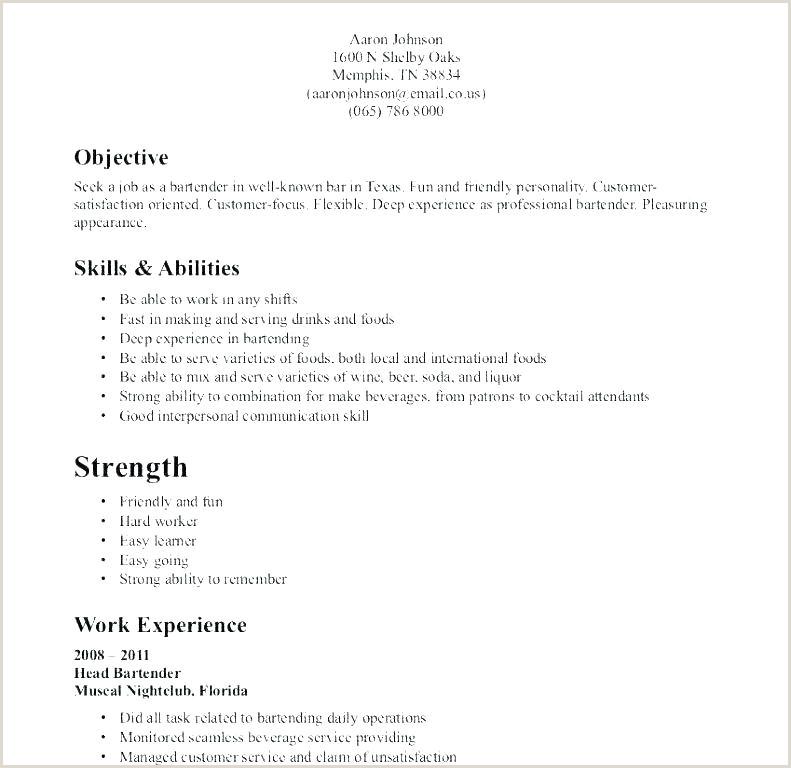 cocktail server sample resume – podarki