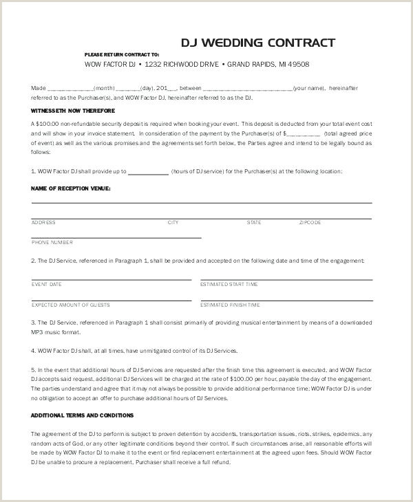 Mobile Dj Contract Template Disc Jockey Contracts Template
