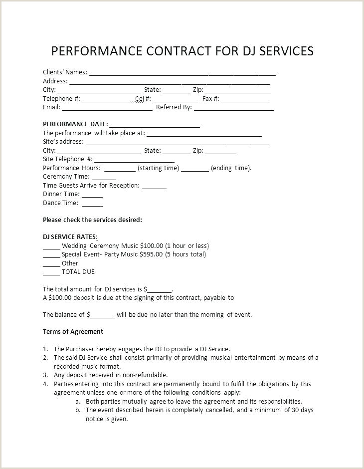 Service Contract Template Dj – lotusdigital