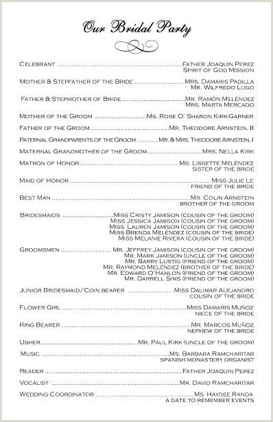 Sample Wedding Programs Wording Catholic Wedding Program Template
