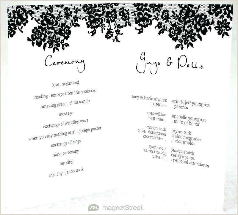 Sample Wedding Programs Wording Christian Wedding Program Template