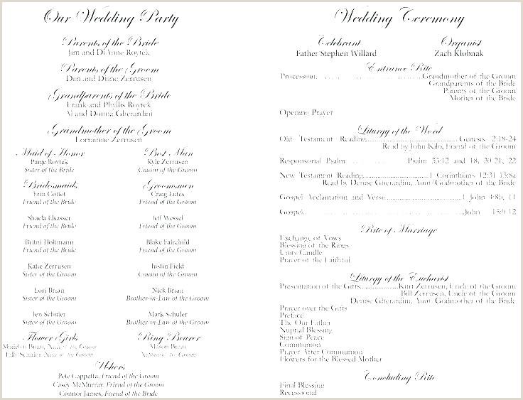 Wedding Day Program Template Sample Wedding Program