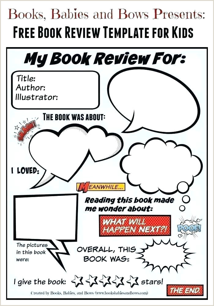 Book Report Template Free Word Documents Download Pizza