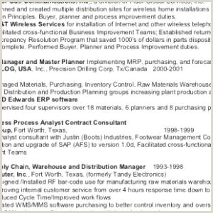 Photo of Sap Business Objects Resume
