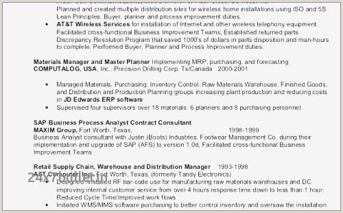 Sap Business Objects Resume Drilling Consultant Resume