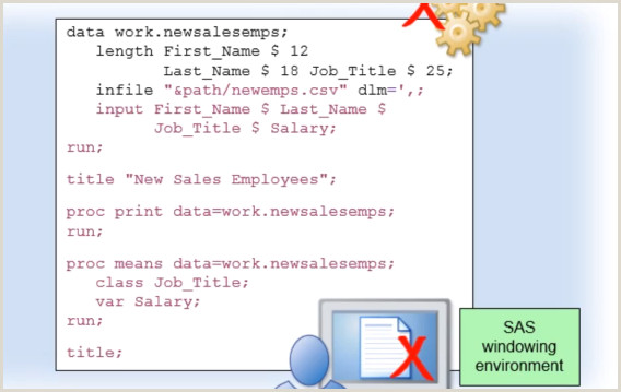Chapter 2 Working with SAS Programs – Data Science