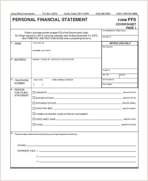 Sba Personal Financial Statement Template Personal Financial Statement Template Excel