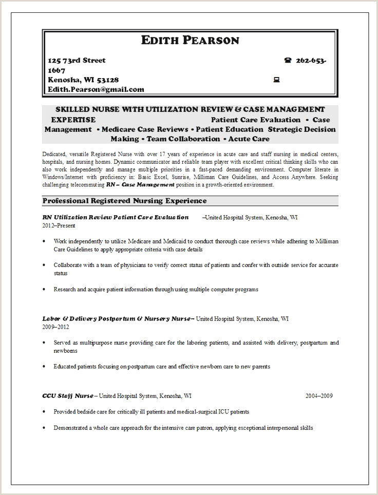 Scannable Resume Example 8 9 Experienced Rn Resume Sample