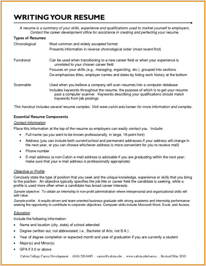 Scannable Resume Template