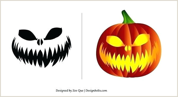 Printable Pumpkin Template Free Scary Cool Carving Stencils