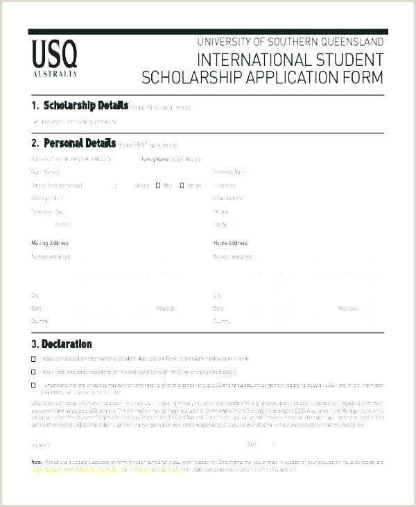 Scholarship Application Letters Sample Scholarship Application Template