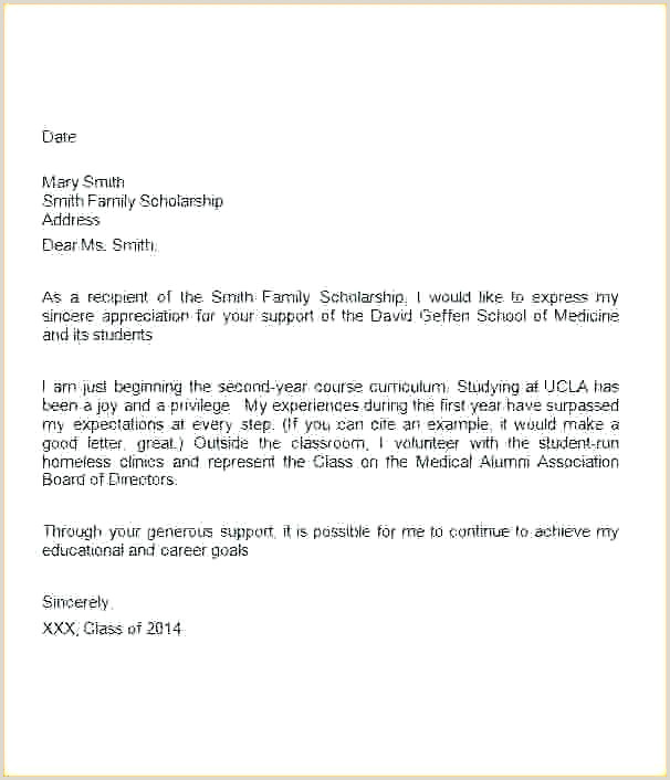 Scholarship Notification Letter How Do You Write A Thank Letter 3 Scholarship Template