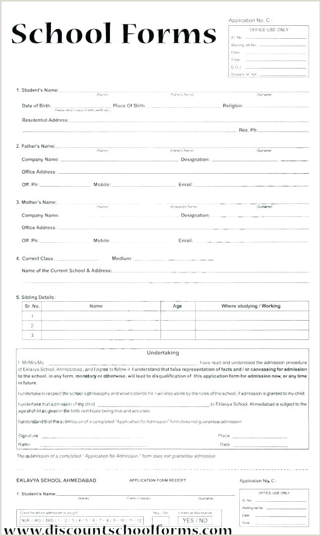 School Admition form Education Registration form Template
