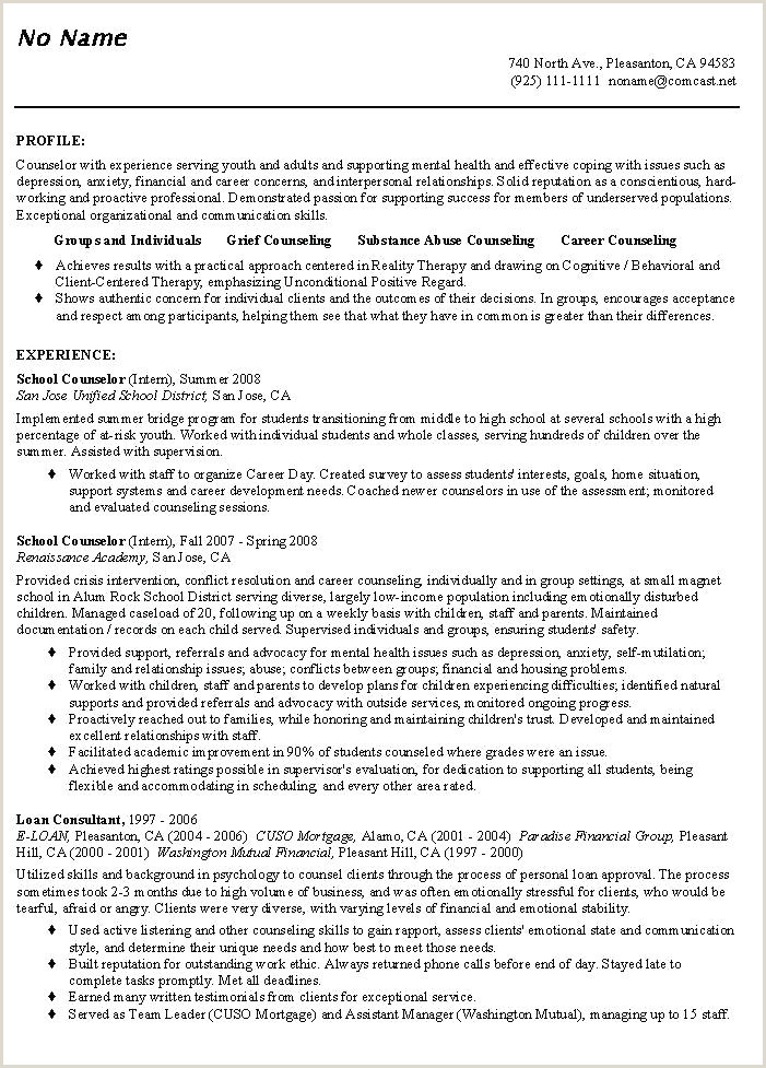 School Counseling Resumes Entry Level Dietitian Resume Examples Lovely Samples