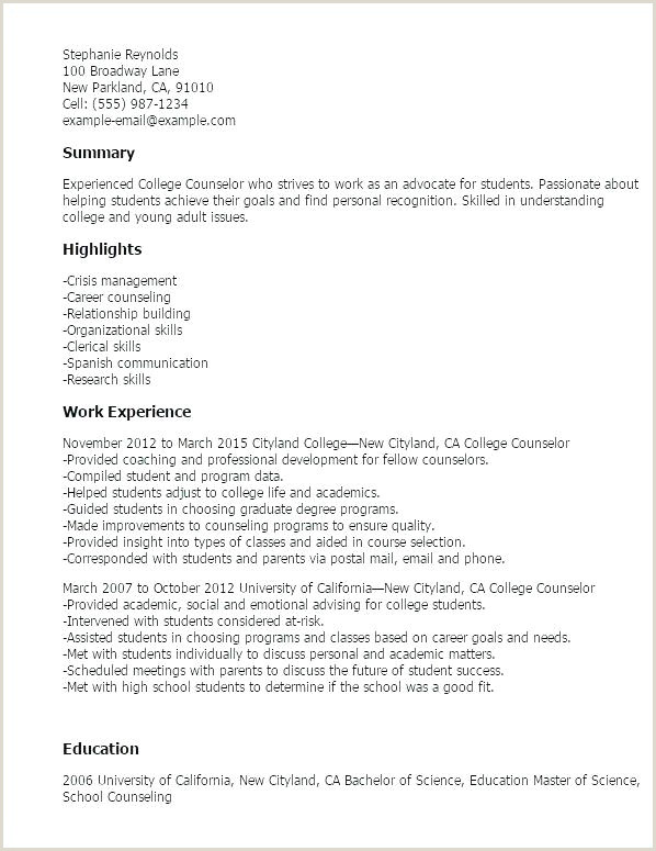 college counselor resume – emelcotest
