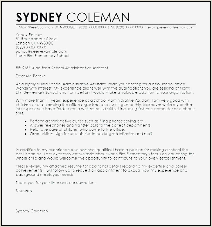 School Counseling Cover Letter New Do You Need A Cover
