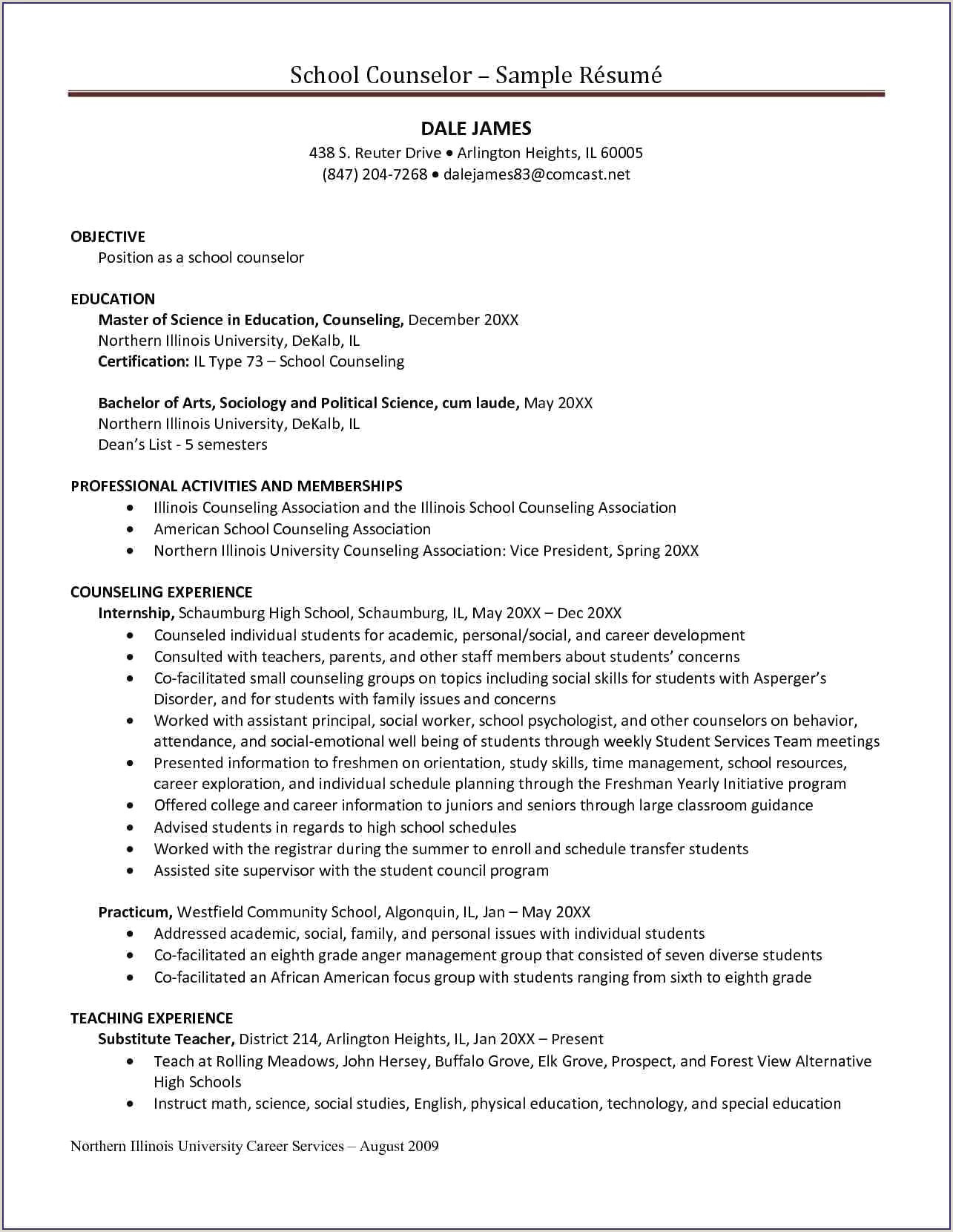 School Counselor Resume Samples Residential Counselor Resume Example New Mental Health