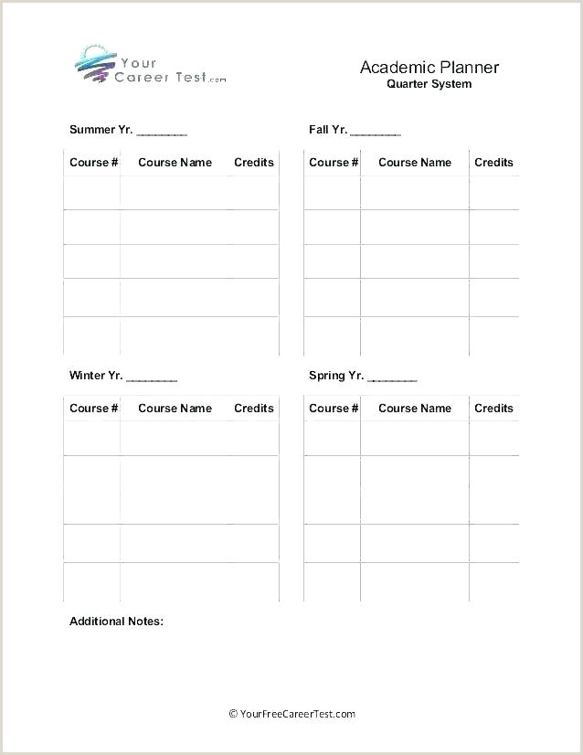 academic schedule template