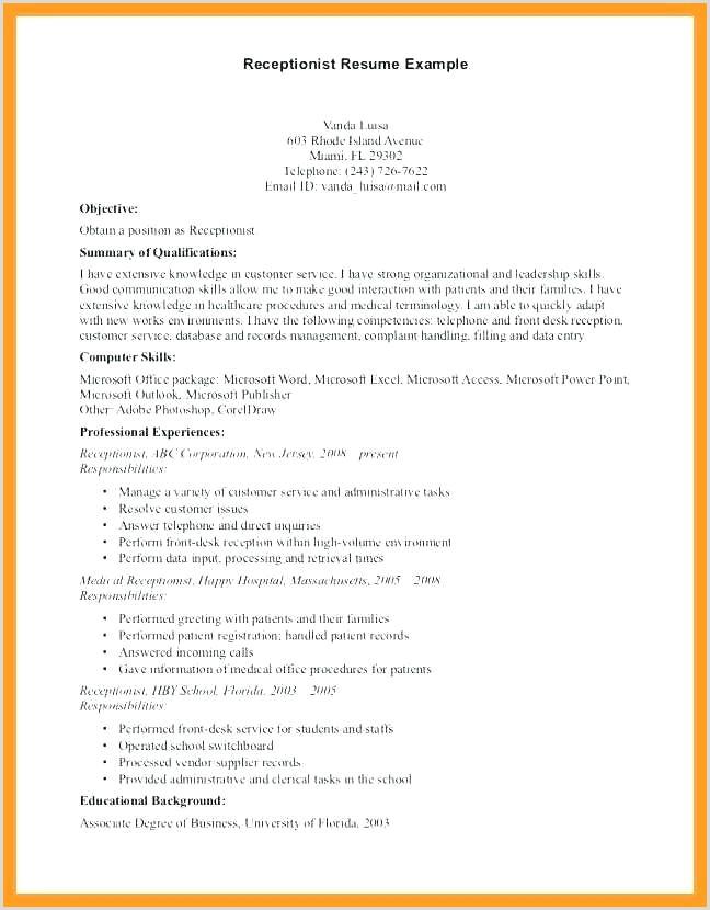 secretary resume example – emelcotest