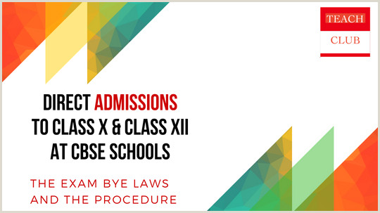 Direct Admission in Class X and XII in CBSE School