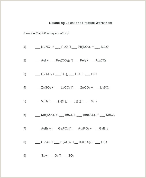 Science Balancing Equations Worksheet Balancing Chemical Equations Answers Well Homework Help