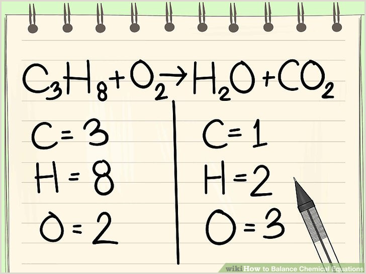How to Balance Chemical Equations 11 Steps with