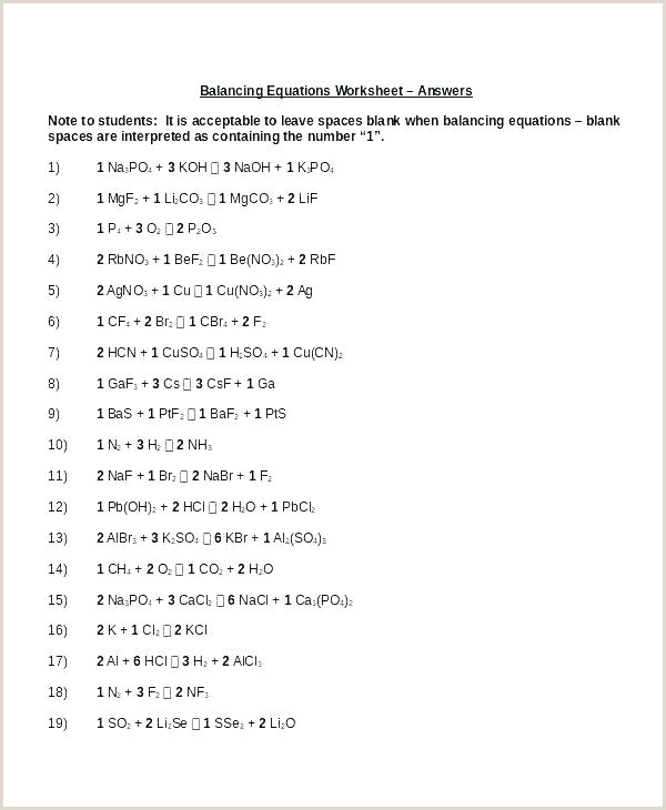 Science Balancing Equations Worksheet Names and formulas Pounds Worksheet Best Mixed