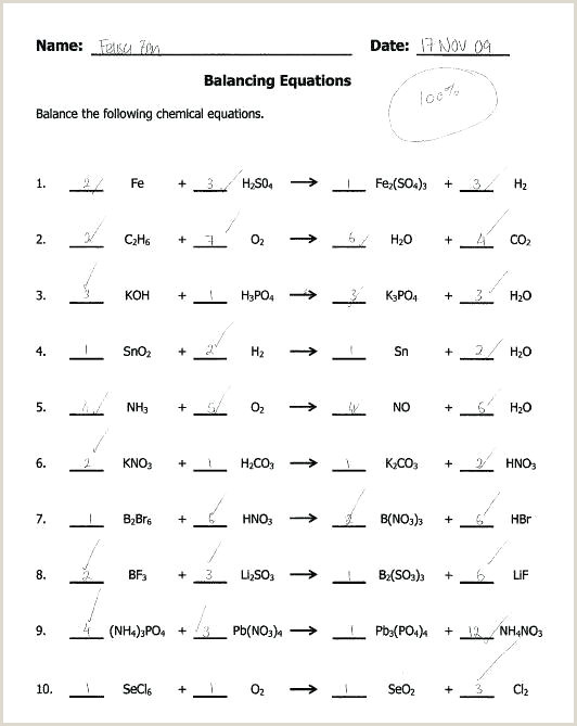 Science Balancing Equations Worksheet Year 10 Science Worksheets – Fabulouslytrendy