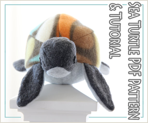 plush toy sewing PATTERN and TUTORIAL fleece sea by