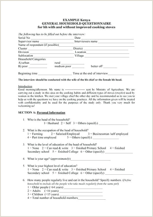 Free Questionnaire Template Survey Market Sample Health Pdf