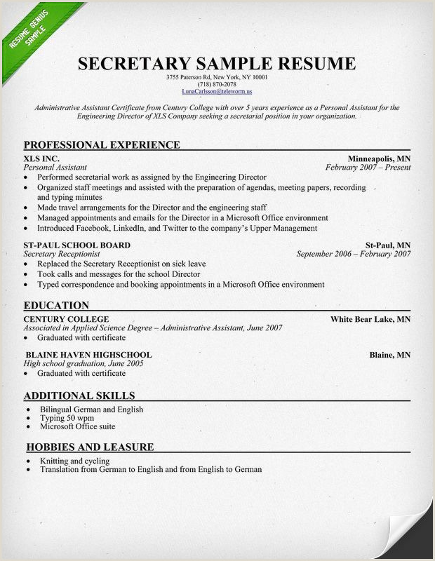 Sample Resume Xls Format My life