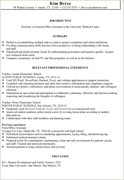 Secretary Resume Examples Resume Sample