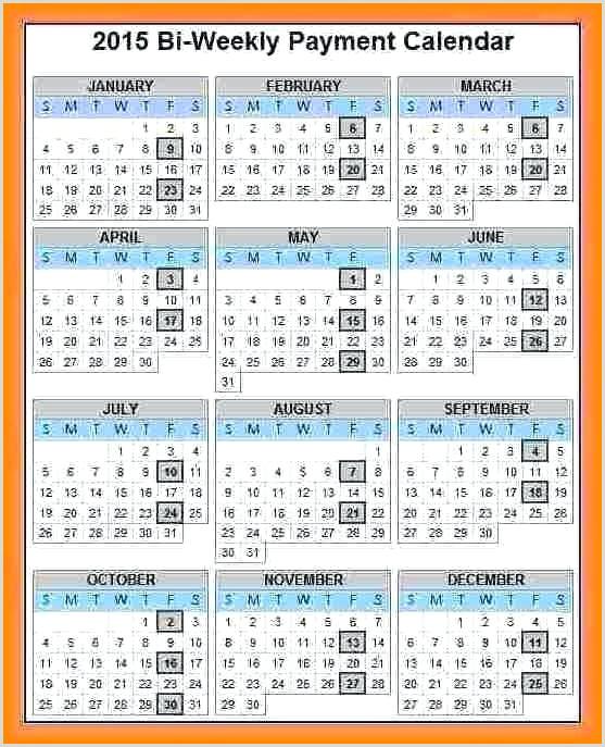 Weekly payroll calendar 2019