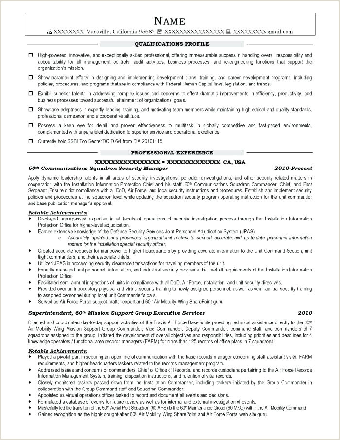 Security Supervisor Resume It Security Resume Template