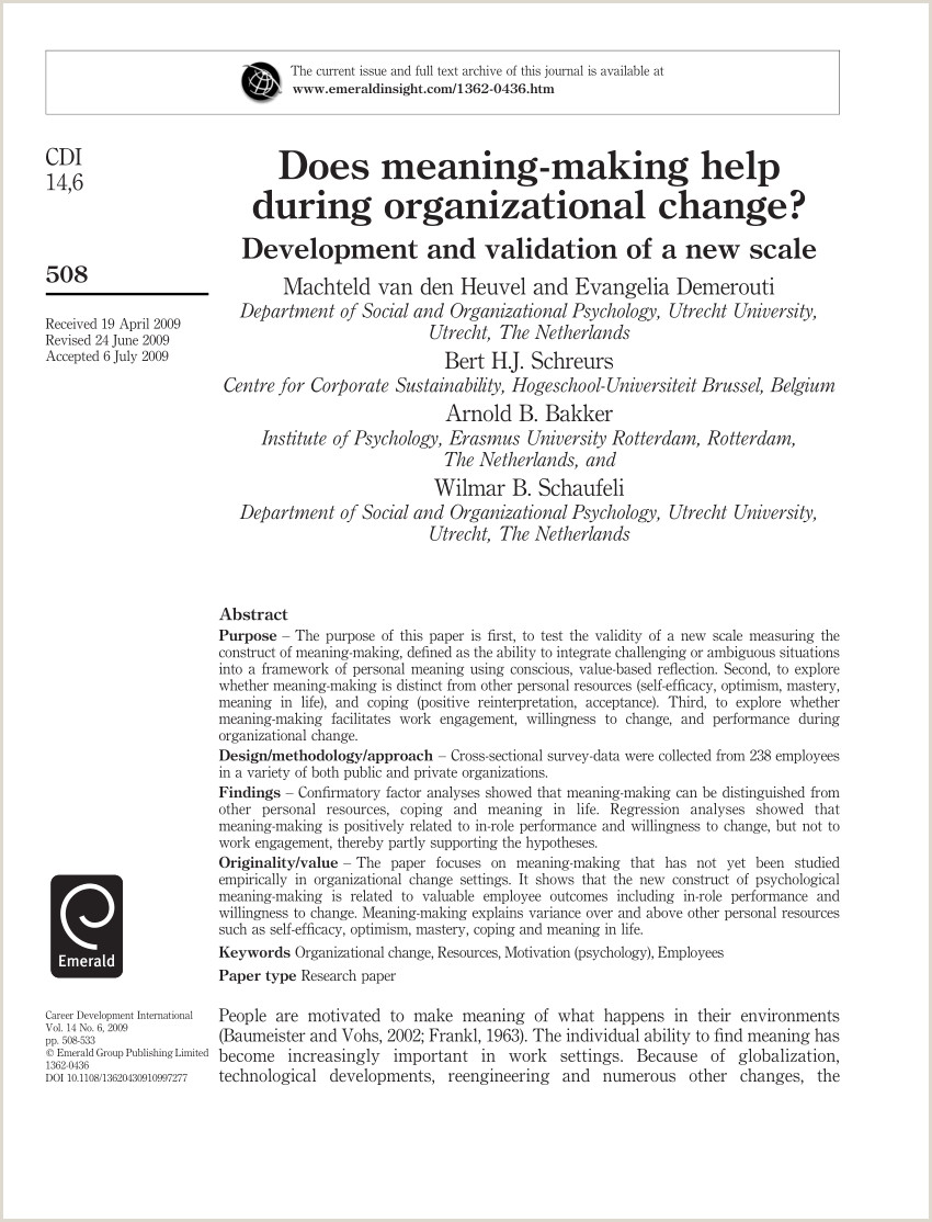 PDF Meaning making as a coping Style not universal process