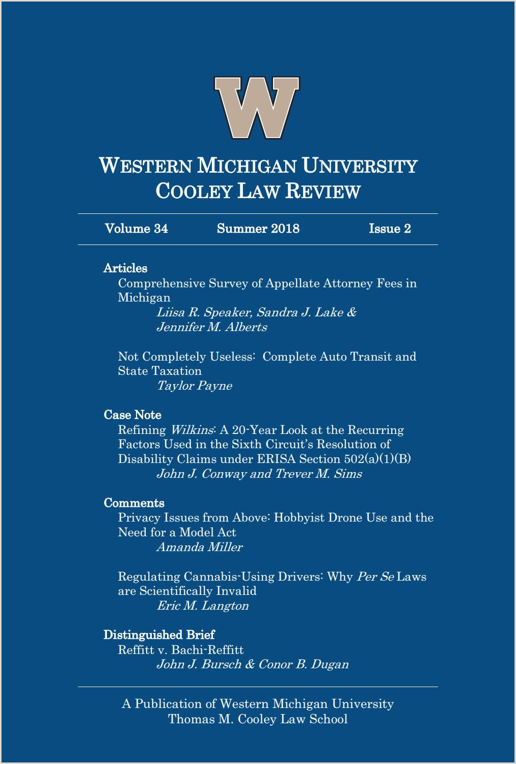 Western Michigan University Cooley Law Review Volume 34