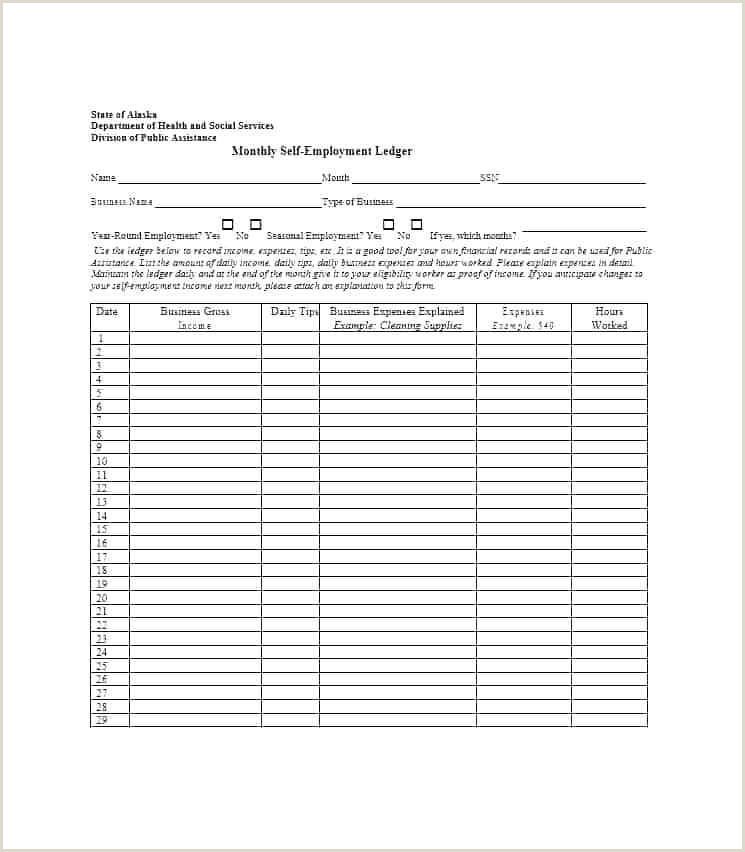 Self Employed Ledger Form Sample Nanny Agreement Contract Template Self Employed Uk