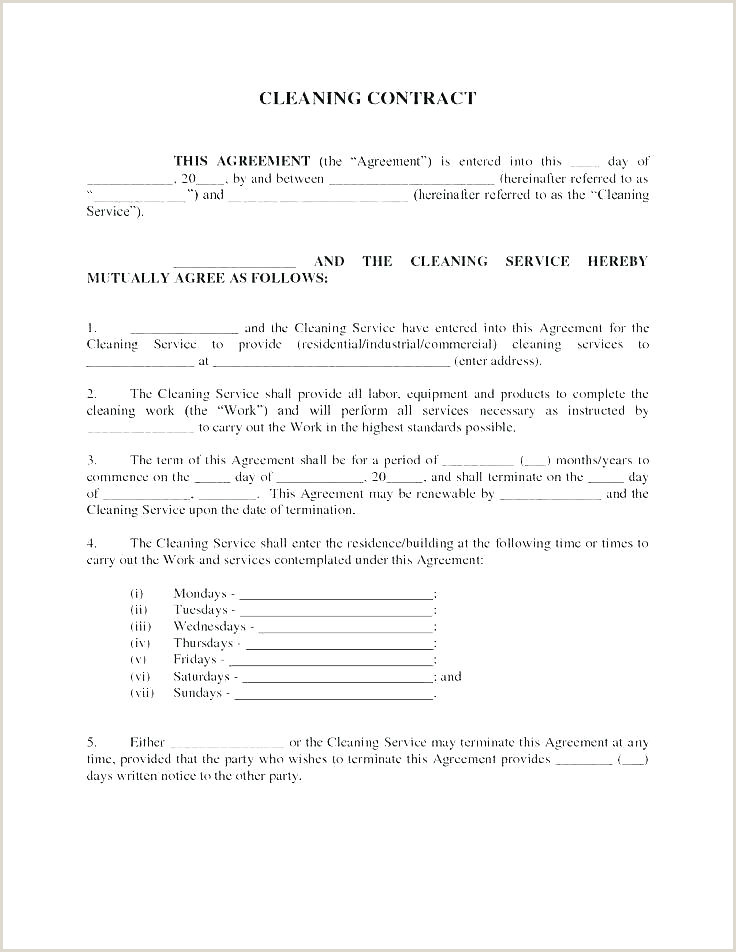 self employed cleaner contract template