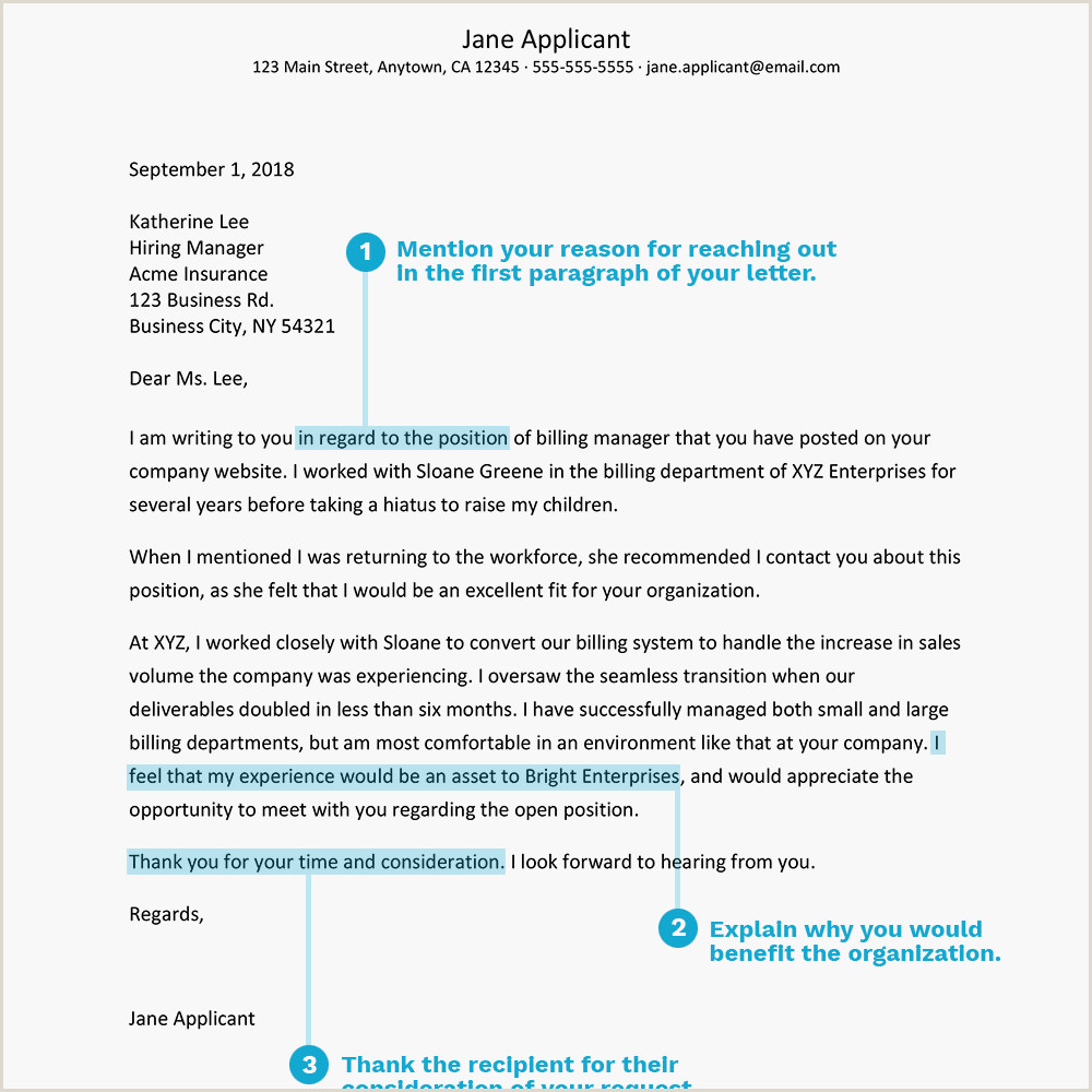 Examples of Career Networking Letters and Emails