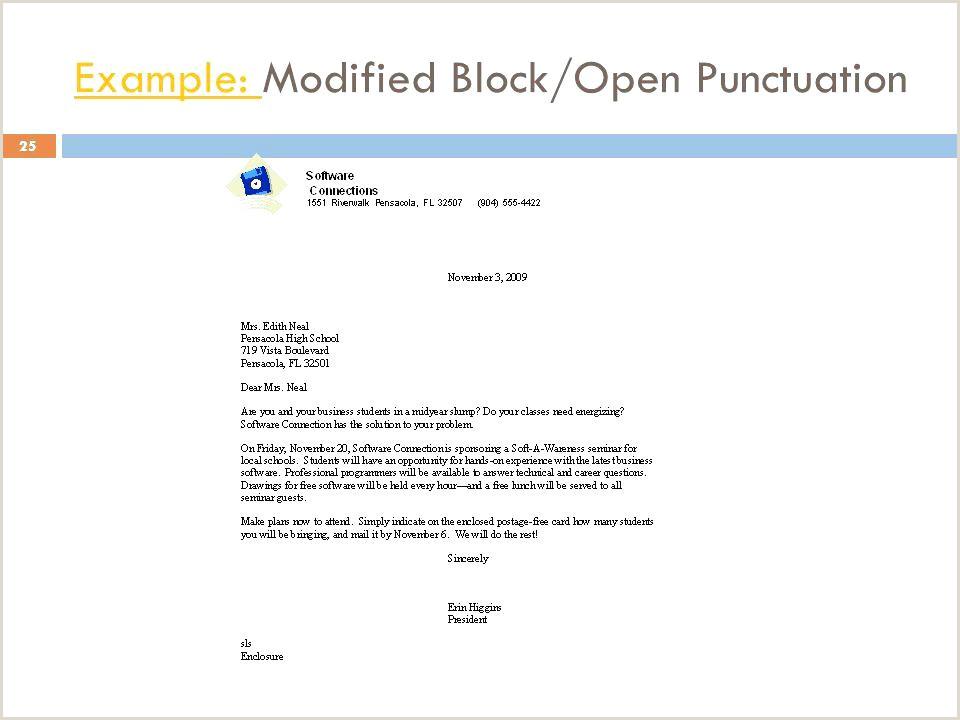 Semi Blocked Letter 10 Block format Letter