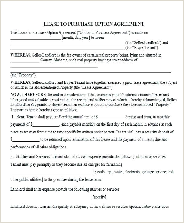 rent to own agreement template