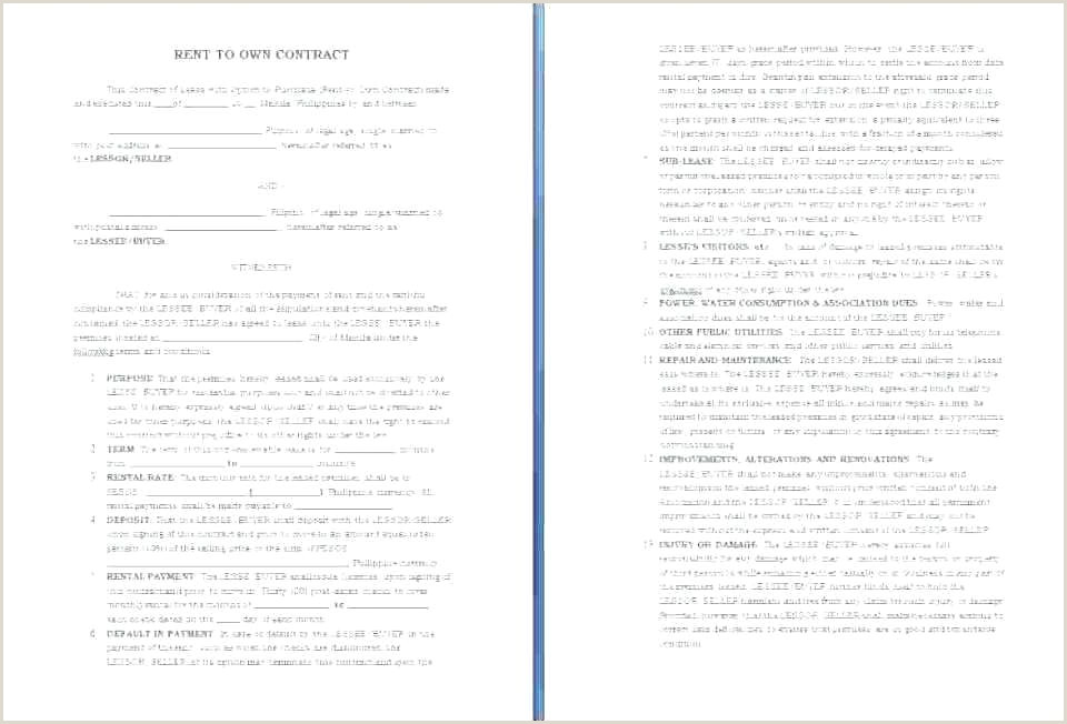 Semi Truck Lease To Own Agreement Form Free Rental Pdf