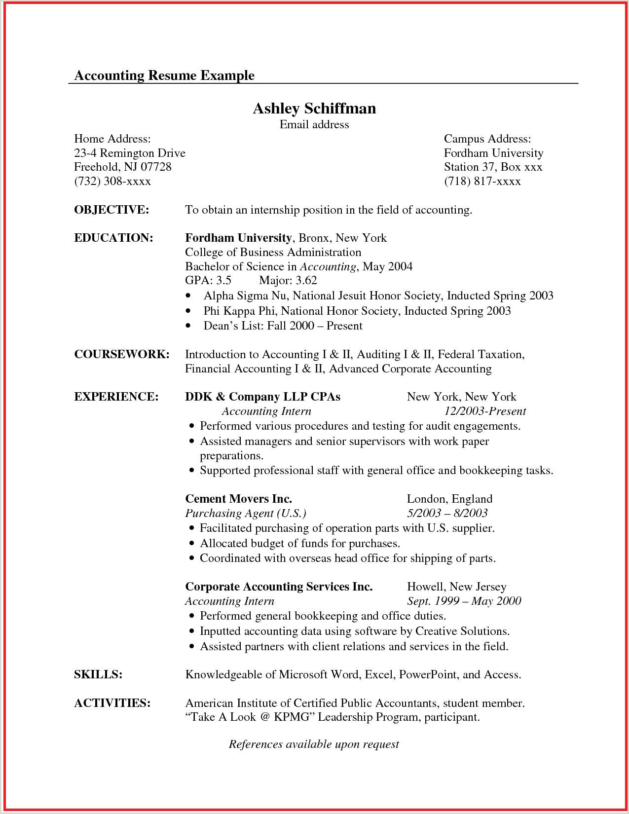 Senior Accountant Resume Pin Oleh Postresumeformat Di Best Latest Resume