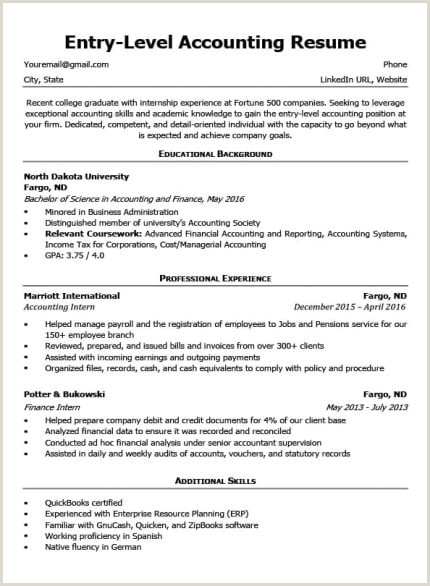 Senior Accountant Resume Sample Entry Level Accounting Cover Letter & Tips