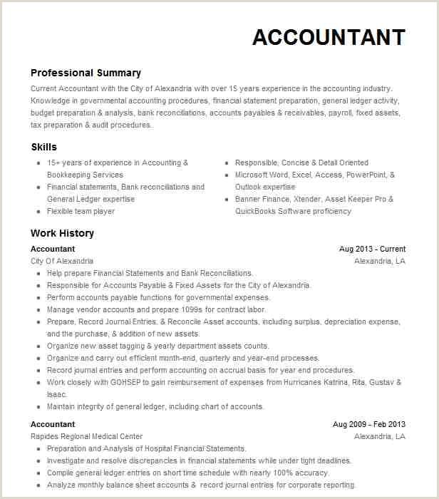 Eye Grabbing Accountant Resume Samples