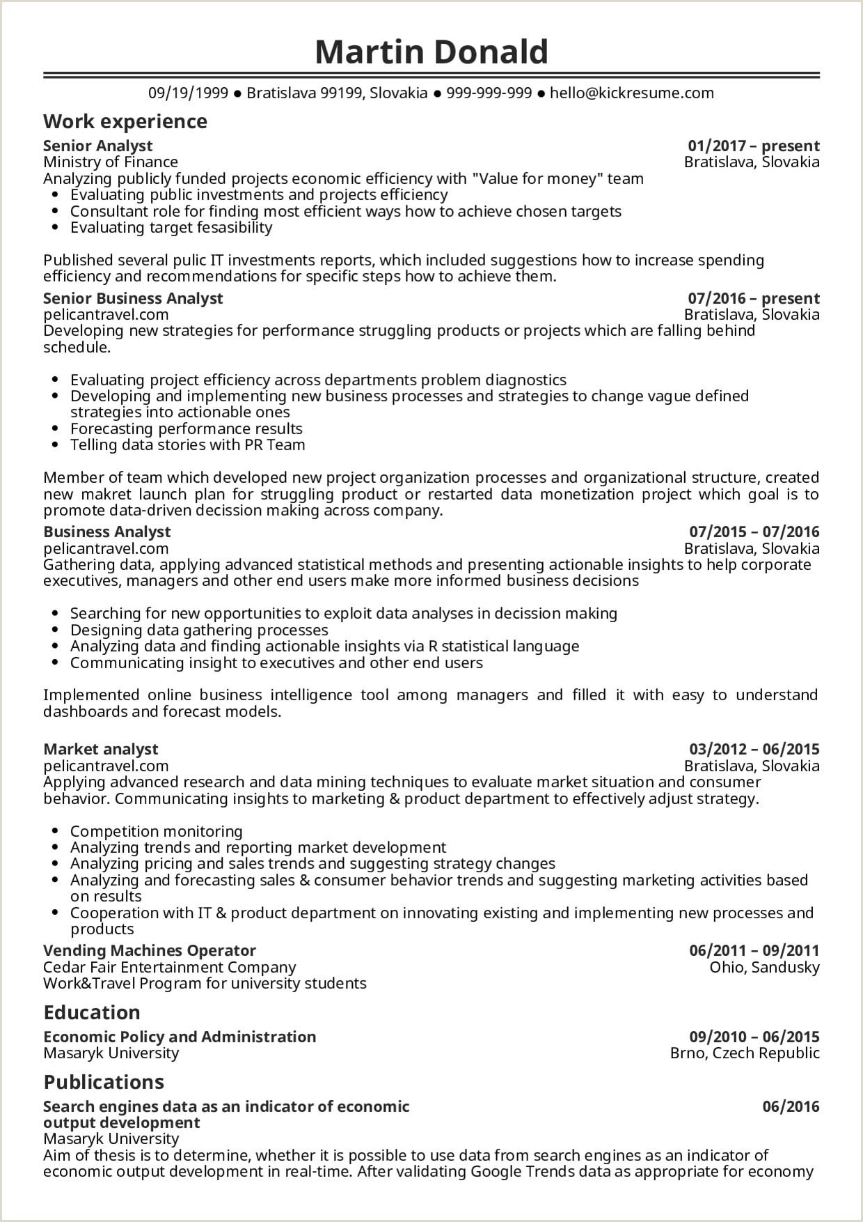 Senior Data Analyst Resume Sample Sample Tax Analyst Job Description New Resume Business Doc
