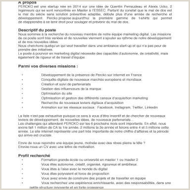 Sephora Mission Statement De Valeur Exemple Lettre De Motivation Stage Architecture