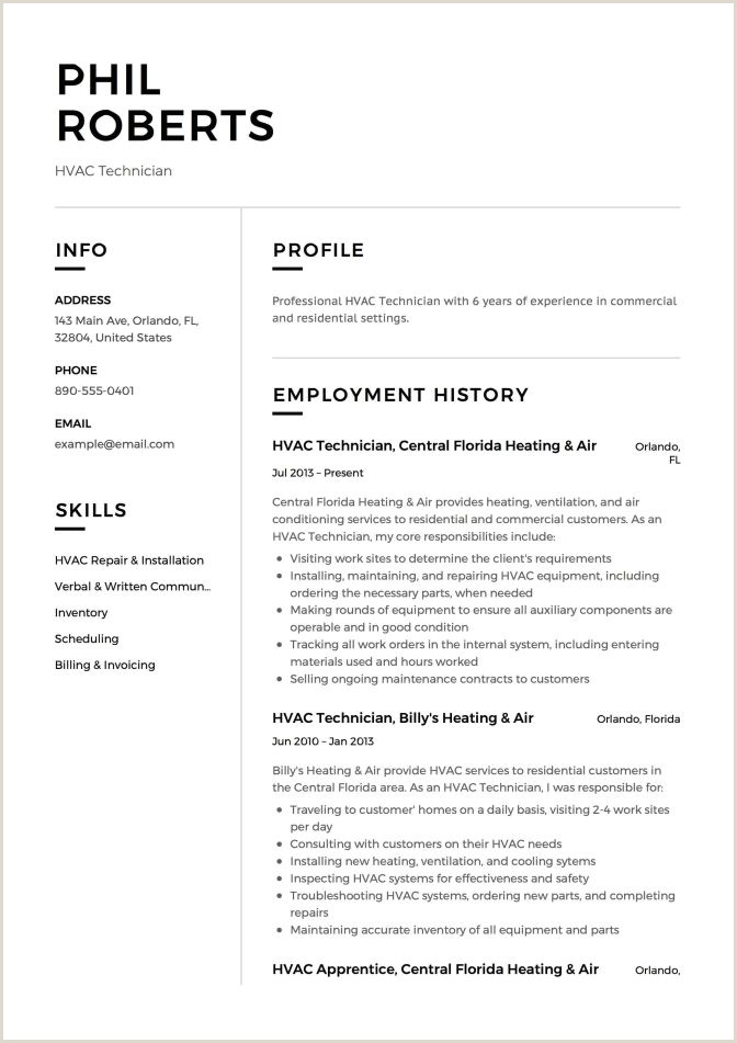 Service Engineer Resume Hvac Technician Resume 12 Samples Pdf Word 2019 Supervisor